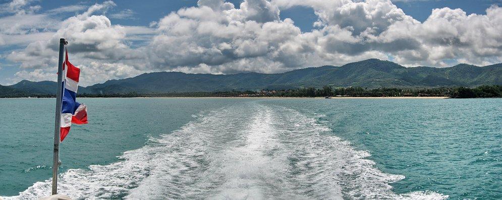 Thailands Fahne auf See